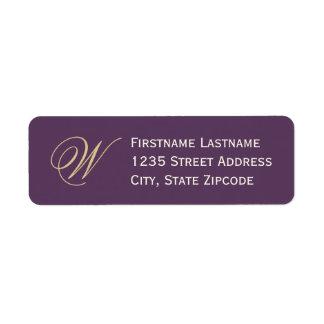 Return Address Labels | Purple, Champagne, Ivory