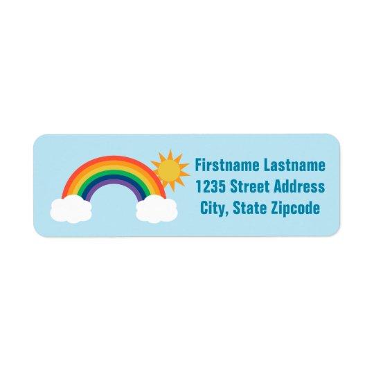 return address labels rainbow design zazzle com