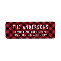 Return Address Labels | Red Buffalo Plaid