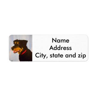 Return address labels. rot.mix label