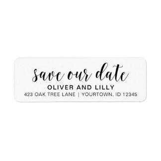 Return Address Labels - Save the Date Script Font
