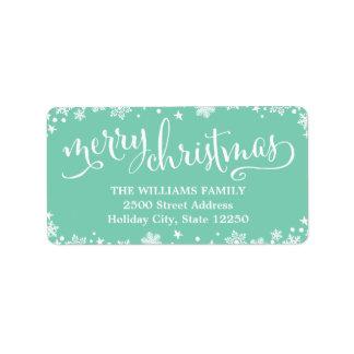 Return Address Labels | Script Merry Christmas