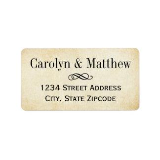 Return Address Labels Vintage Parchment Style