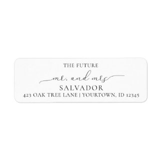 Return Address Labels Wedding Future Mr Mrs