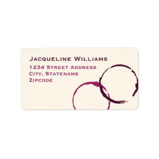 Return Address Labels | Wine Stain Rings