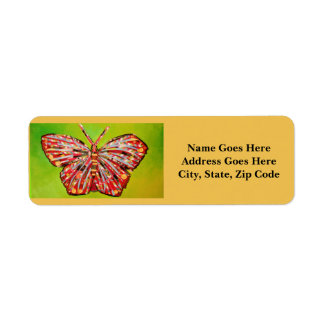 Return Address Labels with Cool Butterfly