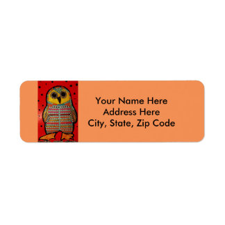 Return Address Labels with Hoot Owl