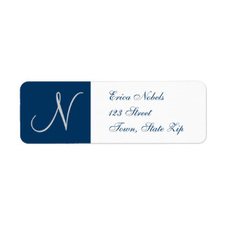 Return Address Labels with Monogram for Weddings