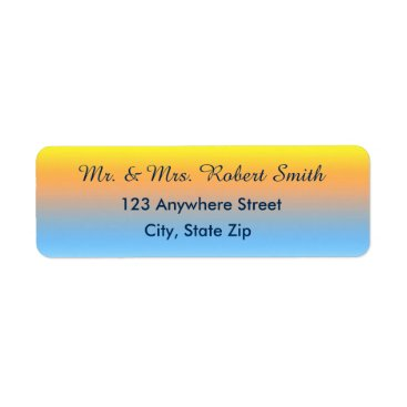 Beach Themed Return Address Labels with Sunset Beach Colors