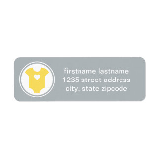 Return Address Labels | Yellow and Gray Baby