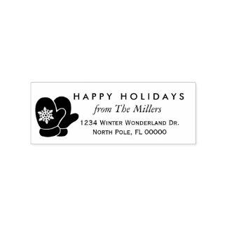 Return Address Rubber Stamp   Christmas