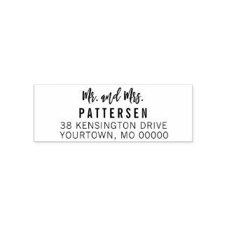 Return Address Rubber Stamp - Mr. and Mrs. Elegant