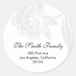 return address seal (label) classic round sticker