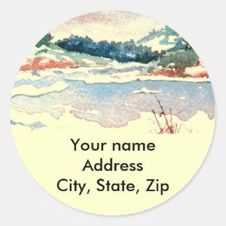 Return Address Sticker