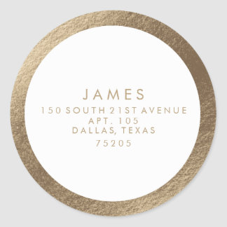 Return Address Sticker | Gold Border