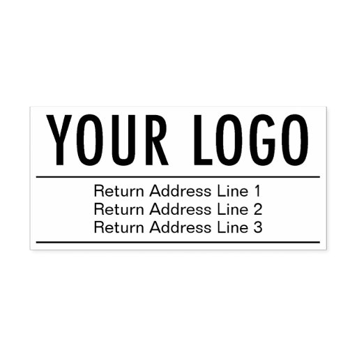 Return Address with Your Company Logo Large Custom Self-inking Stamp