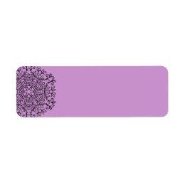 Return adress label : Lavender