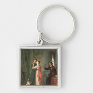 Return after the War, 1878 Silver-Colored Square Keychain
