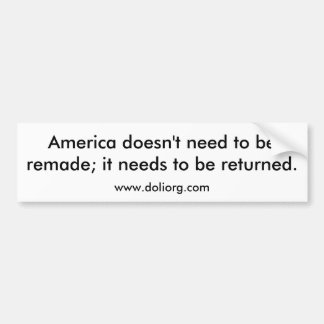 Return America Bumper Bumper Sticker