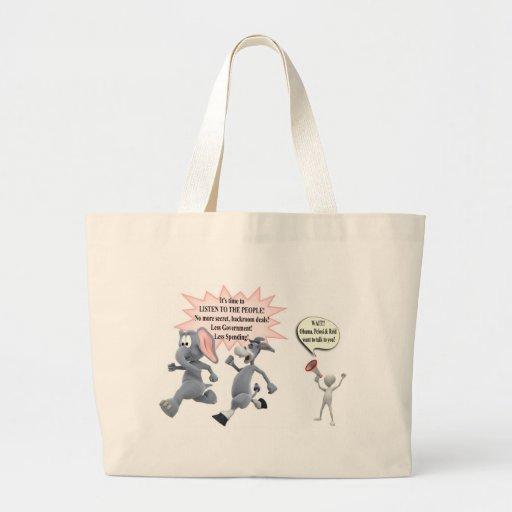 Return Congress to the People Stop Secret Meetings Tote Bags