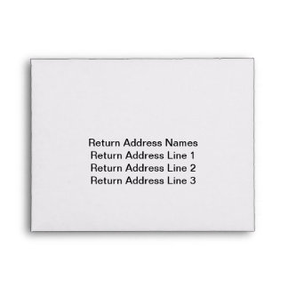 Return Envelopes for RSVP cards
