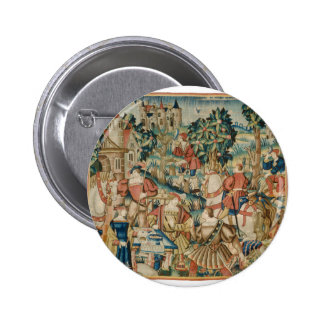 return from the hunt pinback button