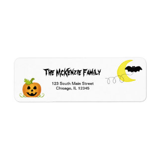 Return Halloween Birthday Address Return Address Label