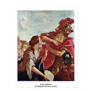 Return Jephthah By Pellegrini Giovanni Antonio Postcard
