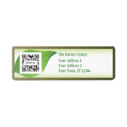 Return Label Template Nature Center Return Address Label
