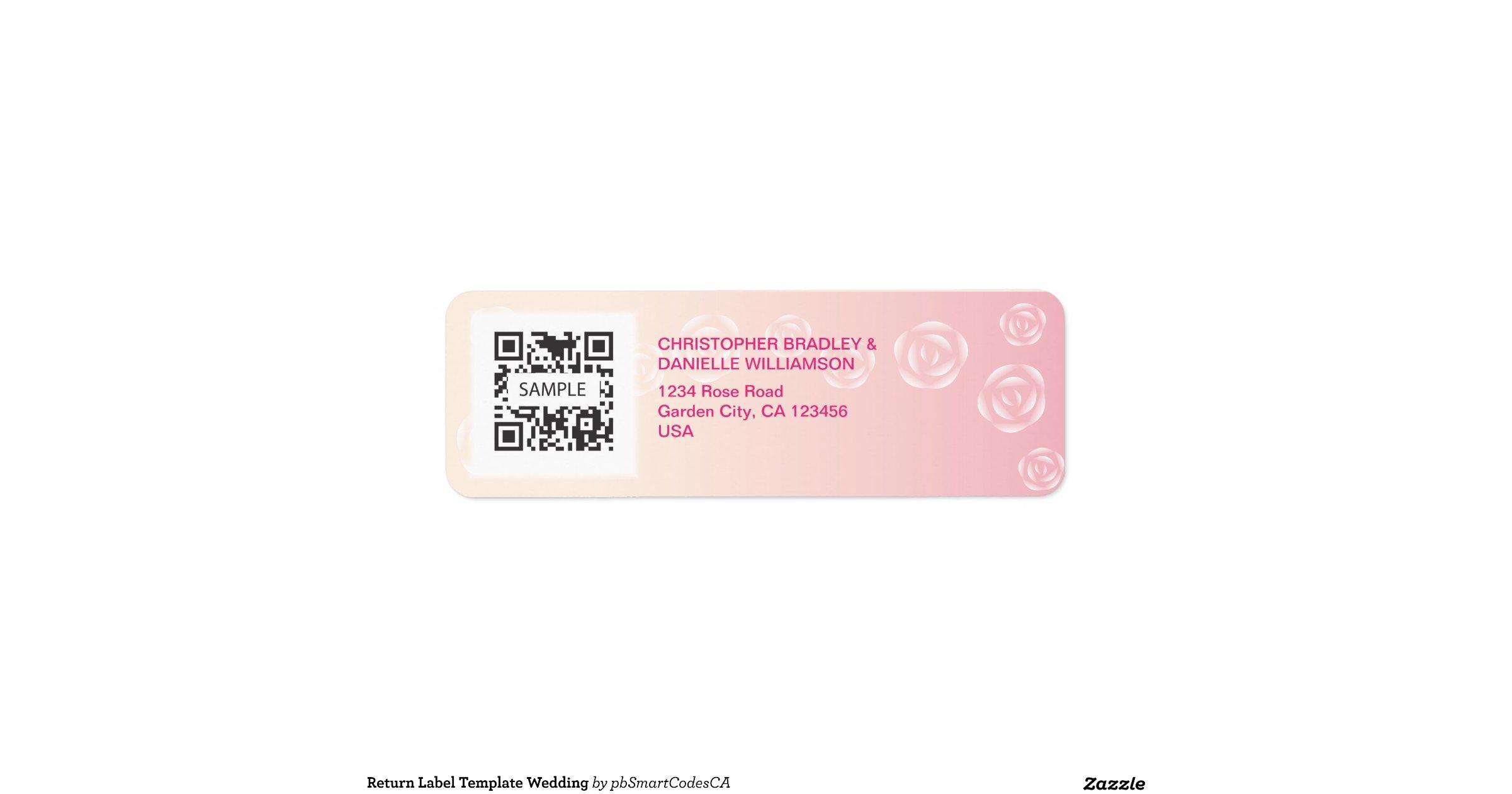 return label template wedding return address label zazzle. Black Bedroom Furniture Sets. Home Design Ideas