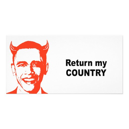 Return my country photo card template