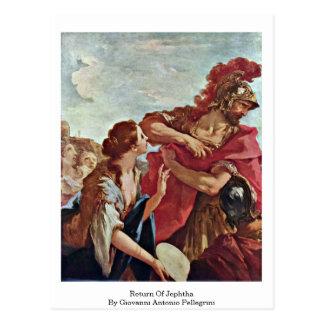 Return Of Jephtha By Giovanni Antonio Pellegrini Postcard