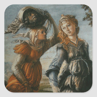 Return of Judith to Bethulia by Botticelli Square Sticker