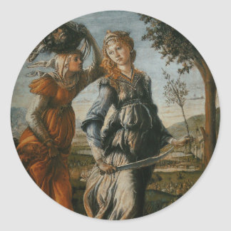 Return of Judith to Bethulia by Botticelli Classic Round Sticker