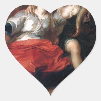 Return of Peace by Theodoor van Thulden Heart Sticker
