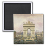 Return of the Ashes of the Emperor to Paris 2 Inch Square Magnet
