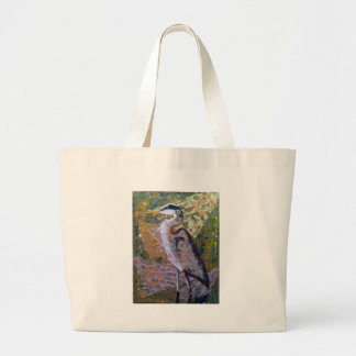 Return of the Blue Heron Large Tote Bag