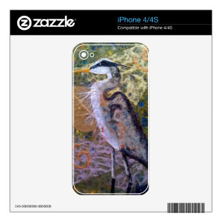 Return of the Blue Heron Decals For The iPhone 4S