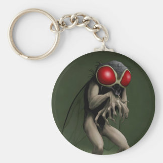 """""""Return of the Fly...take 2"""" by HATE Basic Round Button Keychain"""