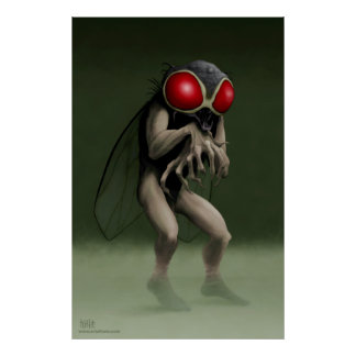 """""""Return of the Fly...take 2"""" by HATE Poster"""
