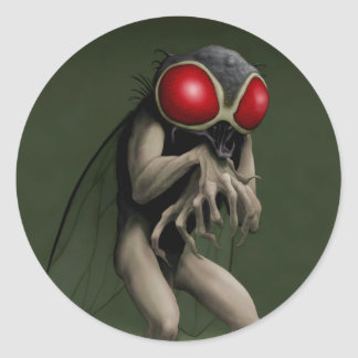 """""""Return of the Fly...take 2"""" Classic Round Sticker"""