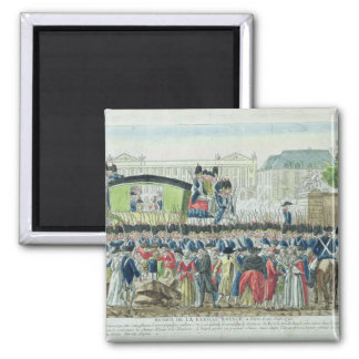 Return of the French Royal Family to Paris 2 Inch Square Magnet