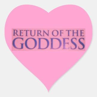RETURN OF THE GODDESS HEART STICKER
