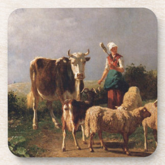 Return of the Herd by Constant Troyon Beverage Coaster