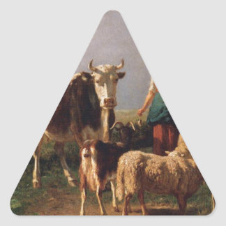 Return of the Herd by Constant Troyon Triangle Sticker