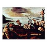 Return Of The Hunt By Piero Di Cosimo Post Card