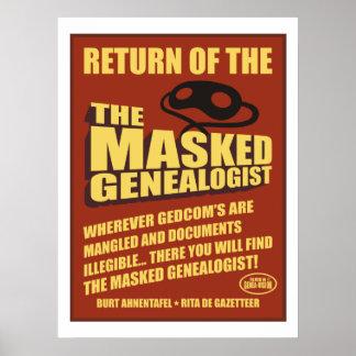 Return Of The Masked Genealogist Poster
