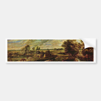 Return Of The Peasants From The Field By Rubens Bumper Stickers