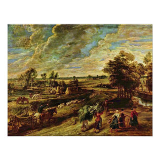 Return Of The Peasants From The Field By Rubens Personalized Invites