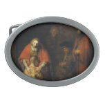Return of the Prodigal Son by Rembrandt Oval Belt Buckle
